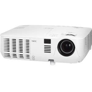 NEC Display NP-V311W 3D Ready DLP Projector - 720p - HDTV - 16:10 - F/2.41 - 2.55 - AC - 225 W - SECAM, NTSC, PAL - 3000 Hour - 5000 Hour - 1280 x 800 - WXGA - 3,000:1 - 3100 lm - HDMI - VGA In - Ethernet - 278 W - White Color - 2 Year Warranty - NP-V311W