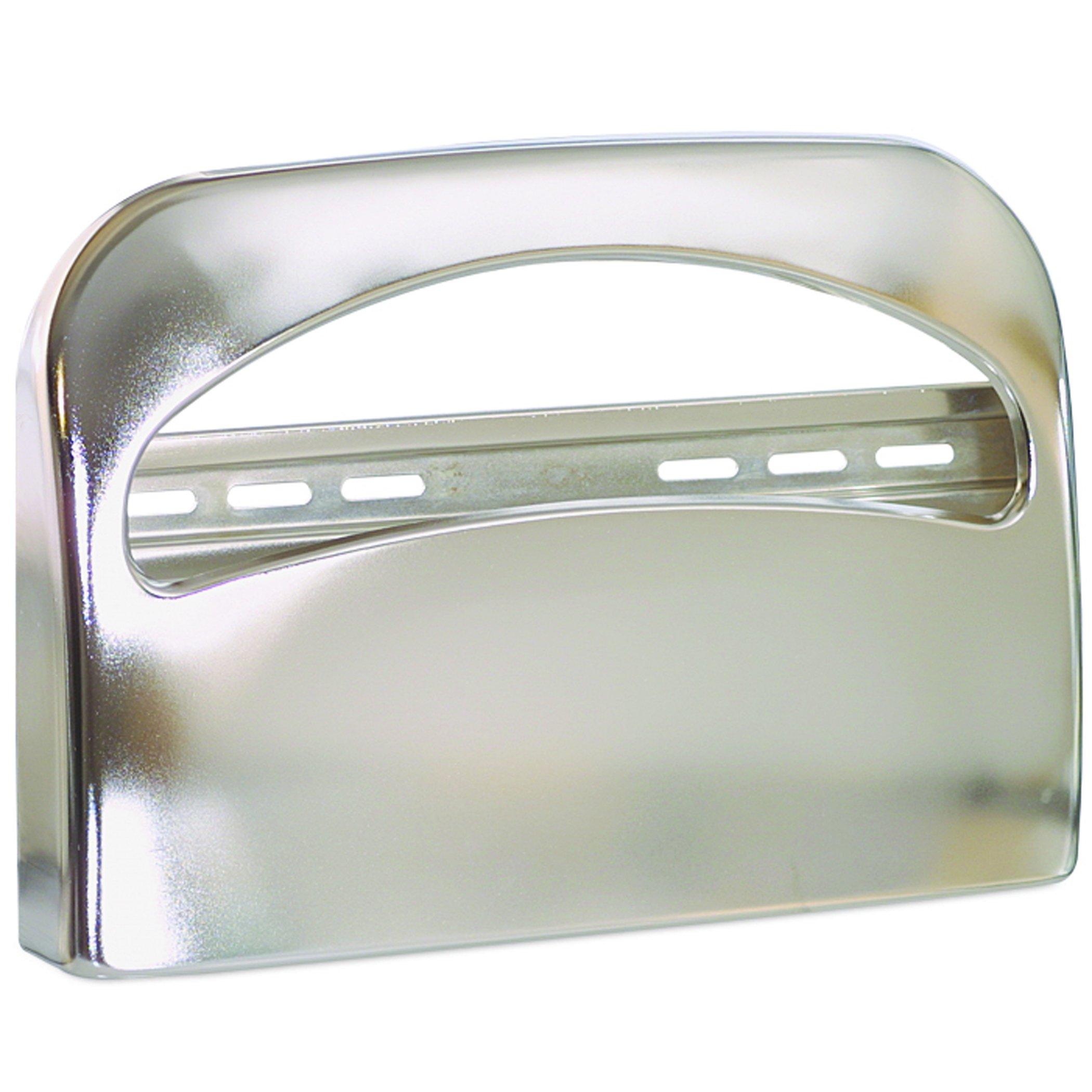 Georgia-Pacific 57725 Safe-T-Gard 1/2 Fold Toilet Seat Cover Dispenser, Chrome