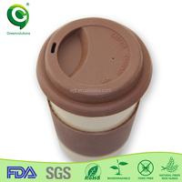 custom made melamine round coffee travel mug