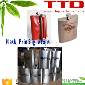 Printing Clamp Wrap Sublimation Stainless Steel Hip Flasks