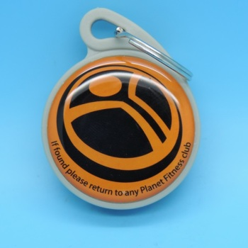 Passive Logo Printable LF T5577 RFID Key Tag Chain Keyfob For Door Control