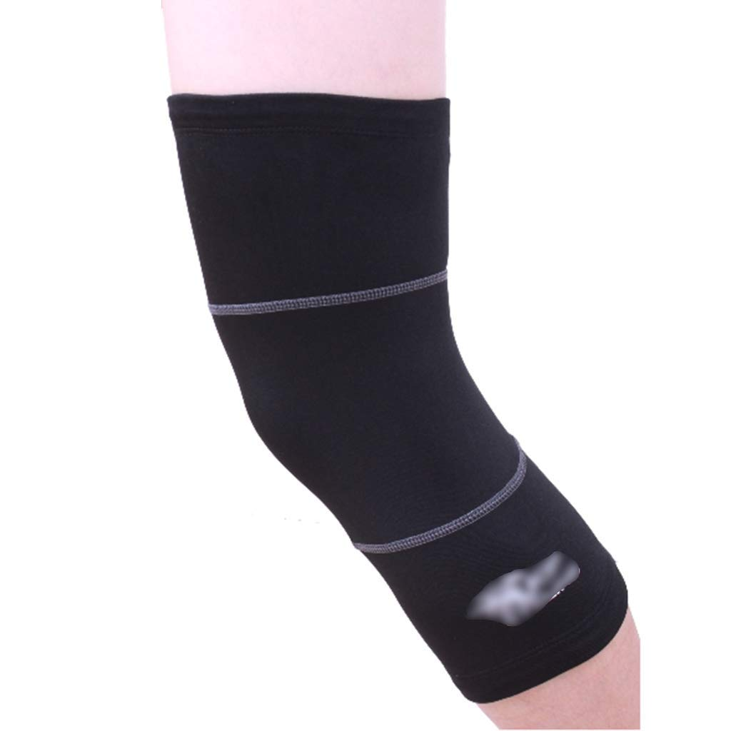 Knee Pads Kneepads sports knee pads black outdoor protective gear high elastic anti-slip breathable knee pads fitness outdoor mountaineering warm protective gear 2 Pack ( Color : Black , Size : XL )
