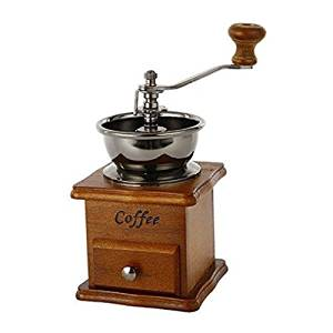 Manual Coffee Grinder,YINGMO Vintage Style Manual Coffee Bean Grinder Spice Herbs Wooden Retro Burr Mill,Strong and Durable Hand Coffee Grinder,Classic Grain Mill, Manual Grinding Bean Machine