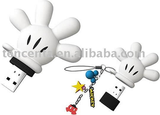 mm hand mouse usb flash disk