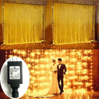 Low Voltage 24V 600 LED Curtain Lights Outdoor String Fairy 20ft Long 10ft Drop