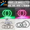 High quality car 16 colors 5050 SMD LED ring lightings auto LED rgb smd angel eyes led ring lights 72mm 75mm