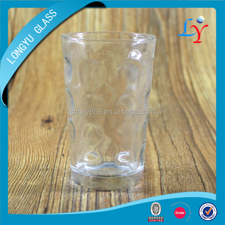 bubble glass tumbler 7oz cheap tumbler glass for drinking