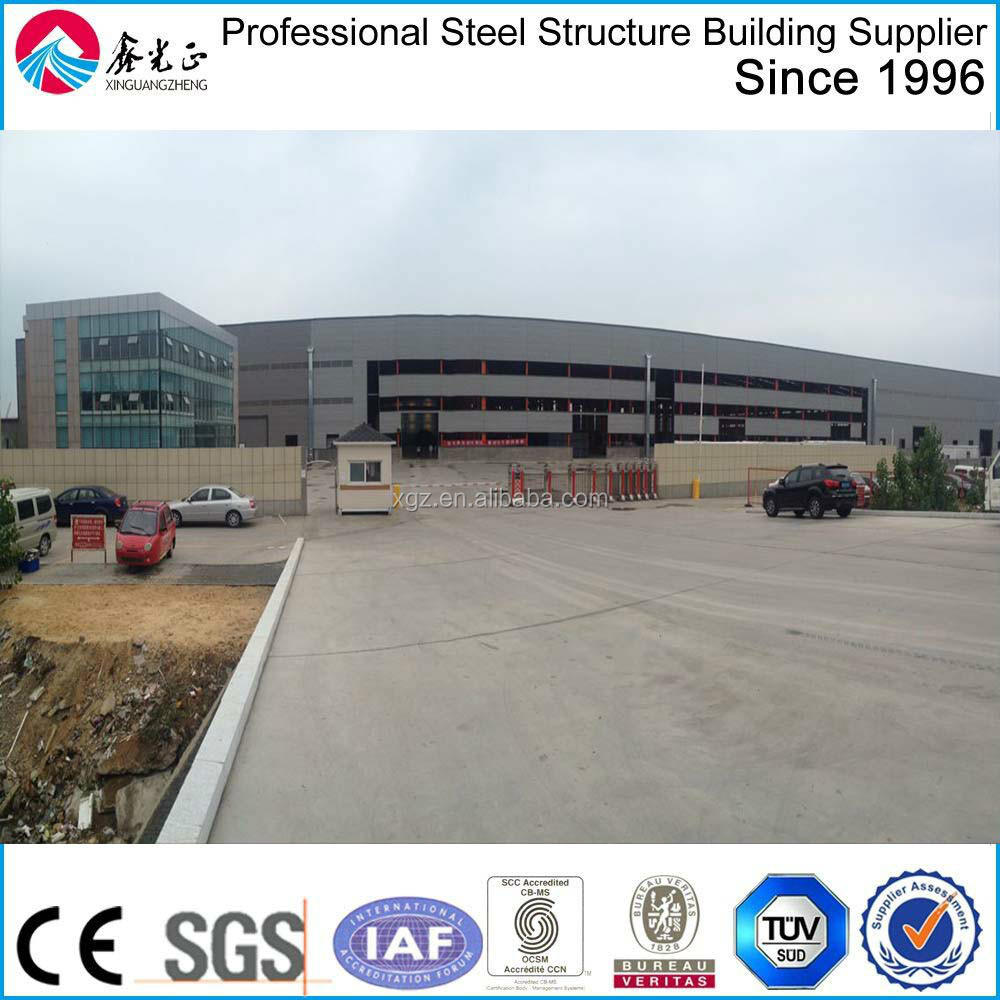 pre engineered steel structure construction site
