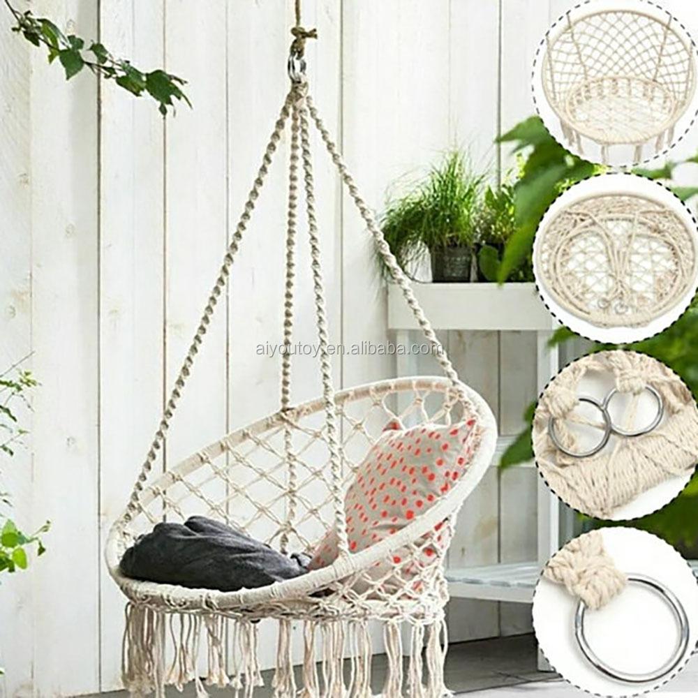 Marvelous Hängenden Korb Balkon Garten Kinderzimmer Dekorative Hängesessel Baumwolle  Seil Weben Schaukel