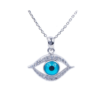 Real Diamond Evil Eye Charm Pendant Jewelry,Natural Blue Sapphire Evil Eye  Pendant,Turkish Evil Eye Pendant Religious Jewelry - Buy 925 Sterling
