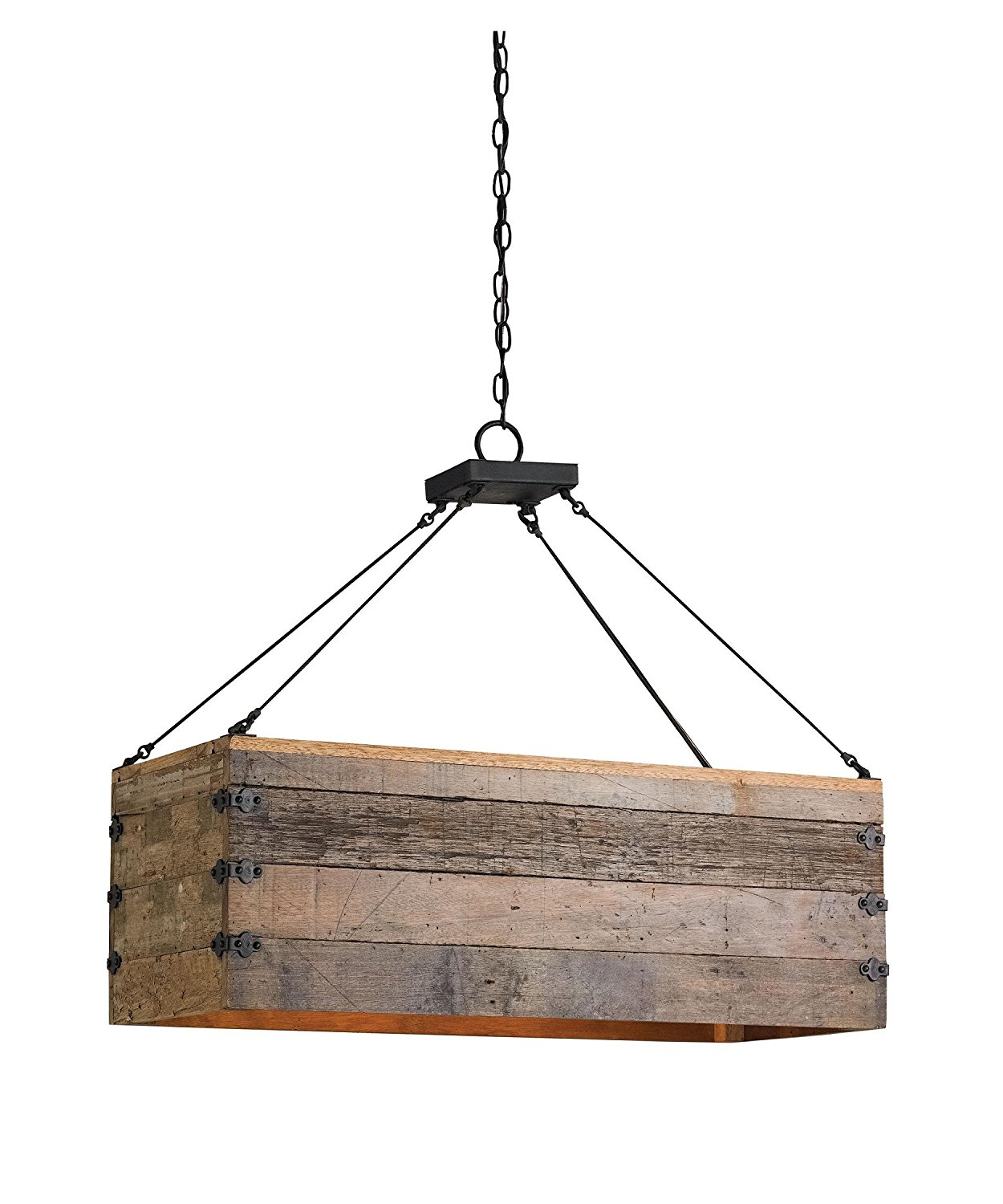Currey and Company 9994 Billycart 3 Light Island Light in Blacksmith-Natural