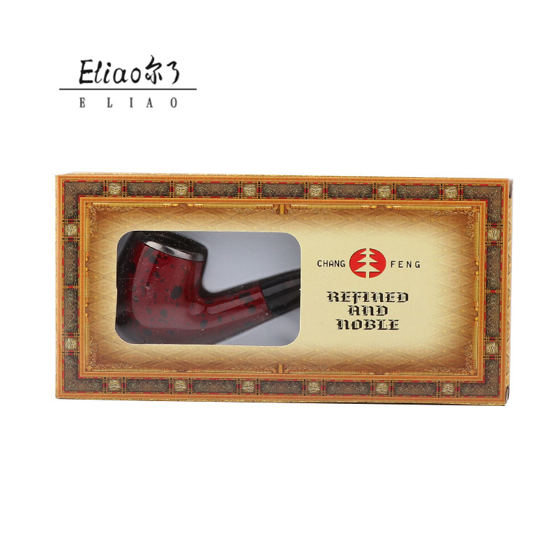 Erliao Wholesale wood tobacco smoking pipe Handmade wood tobacco pipes Resin smoking pipe