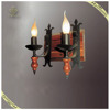 Classic European Style Decorative Candle Wall Light Wooden Light, Wooden Wall Lamps for Home