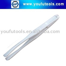 NO.708B White Plastic Conductive Tweezer (Round Tips)