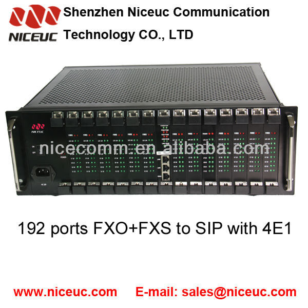 192 ports ISDN to PSTN converter