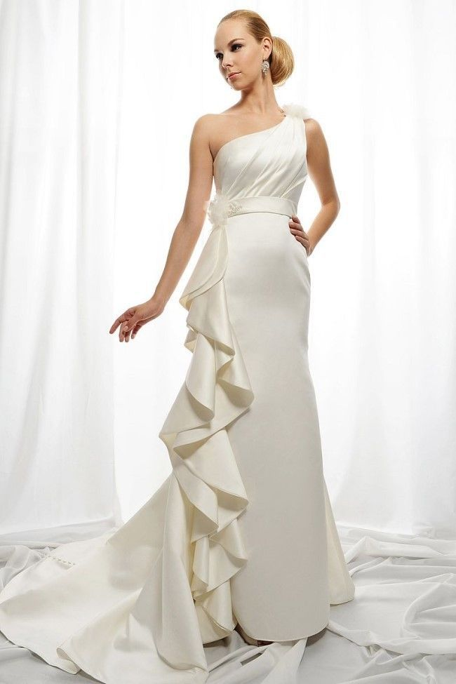 Crazy! Hot 2016 New Taffeta Flowers  A-line Sexy White/Ivory  Wedding Dress Custom size 2+4+6+8+10+12+14+16+18+++