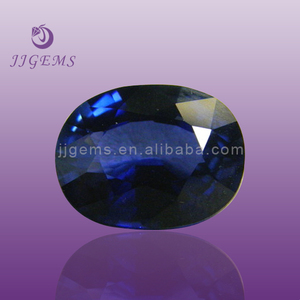 superior quality oval shape synthetic corundum/ loose blue sapphire gemstone wholesale