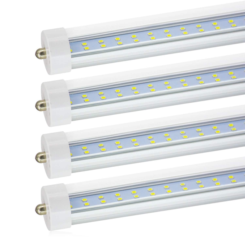 Get quotations · jesled t8 t10 t12 8ft led tube light single pin fa8 base 8 ft