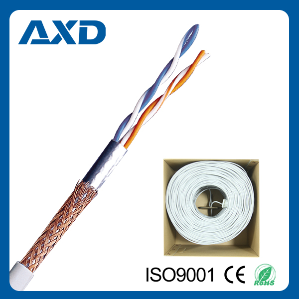 XD-1002 cat5e CE/ROHS/ CPR Certificated 2Px24awg sftp computer cable for lan and network systems