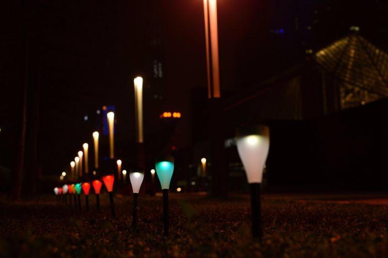 Solar Light 7 LED Color Hanging Lamp Multi Colored Solar Garden Lights
