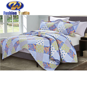 New printed cheap print boutis 100% polyester children quilted coverlets