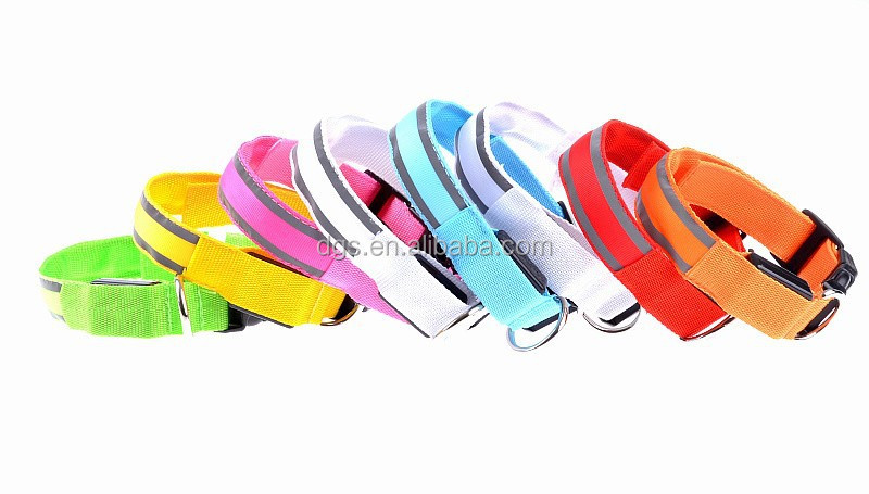 Super Quality Colorful Nylon Dog Led Leash Collar Pet Product