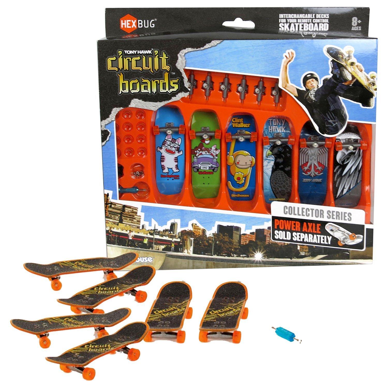 Hexbug Year 2014 Tony Hawk Circuit Boards 6 Pack Set - Ben Raybourn Cat (002-BH), Party Animals (004-BH), Clint Walker Monkey (005-BH), Forest Hawk (013-BH), 2 Head Hawk (019-BH) & Iron Hawk (020-BH)