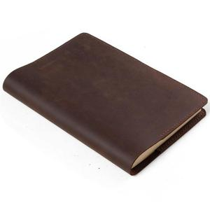Custom A5 Blank Paper Small Pu Cover Genuine Leather Notebook