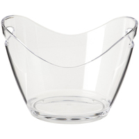 Ice Bucket Clear Acrylic 3.5 Liter Good for up to 2 Wine or Champagne Bottles Ice Bucket