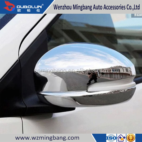 Car Door Mirror Cover Chrome For Honda Fit Jazz 2014 Car Accessories