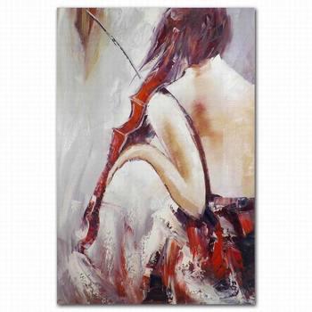 Toptan Soyut Güzel şişman Kadın çıplak Arka Yağlıboya Kapalı Dekor