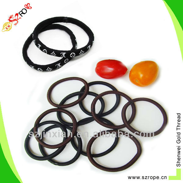 Hair elastic band with rubber logo