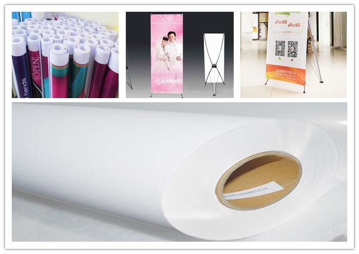 190 mic Thickness Advertising Self-Adhesive PP Film for Eco-solvent