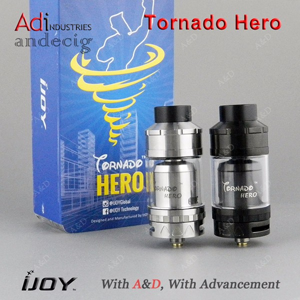 2017 A&D Hot selling IJOY Tornado Hero RTA a Sub Ohm tank