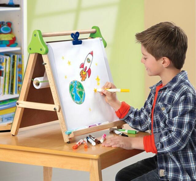 children toys new 2016 style Wooden tabletop easel for kids