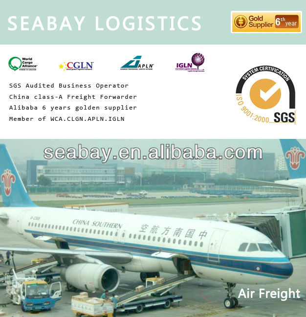 Air freight from China to Chile/Colombia/Switzerland/Costa rica/Cuba/Cyprus/Czech/Denmark/Djibouti/Grmany/Dominica/Algeria/Egypt