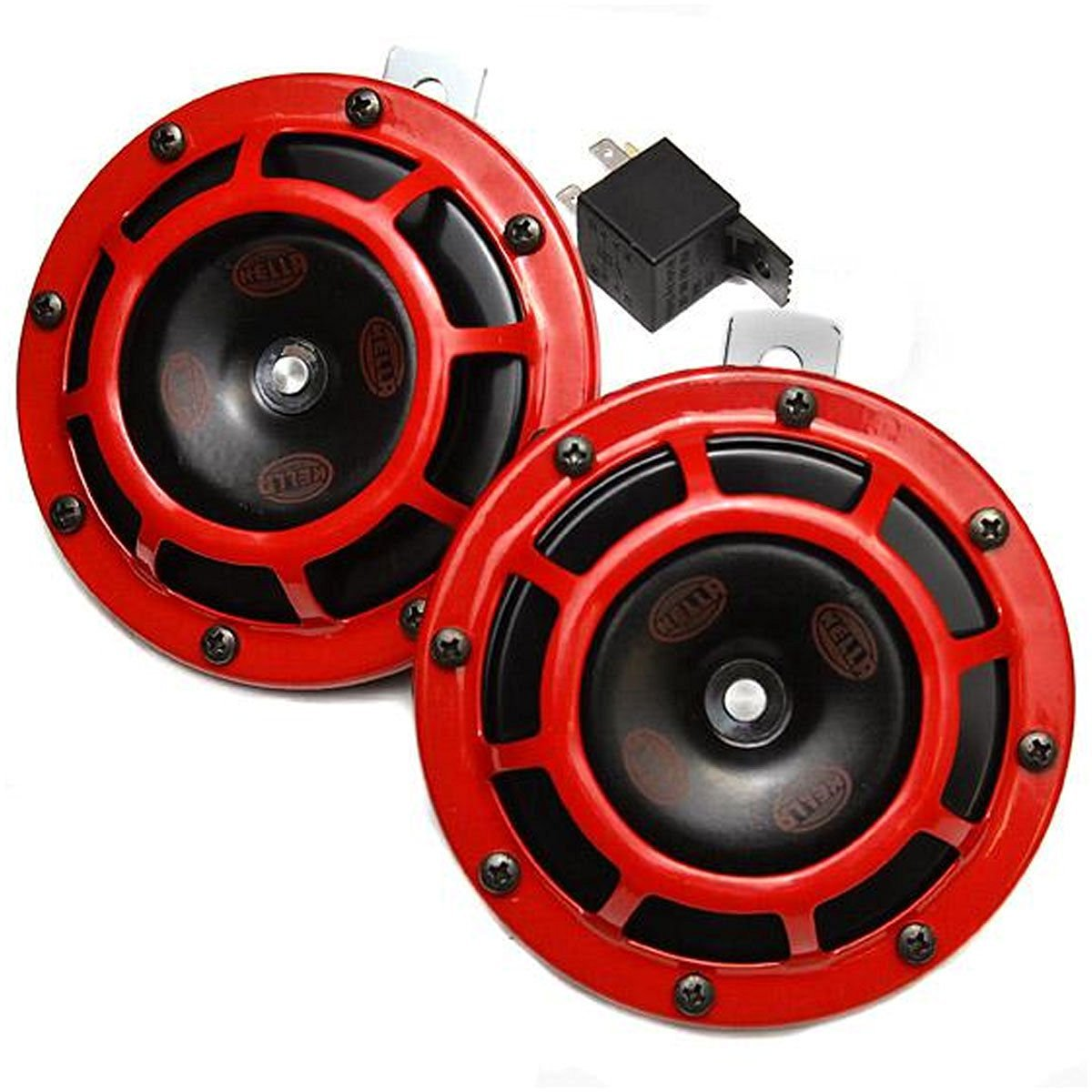 HELLA Supertone Universal 12V High Tone / Low Tone Twin Horn Kit (Red) / Shipping through DHL(Delivery within 4-5 days)