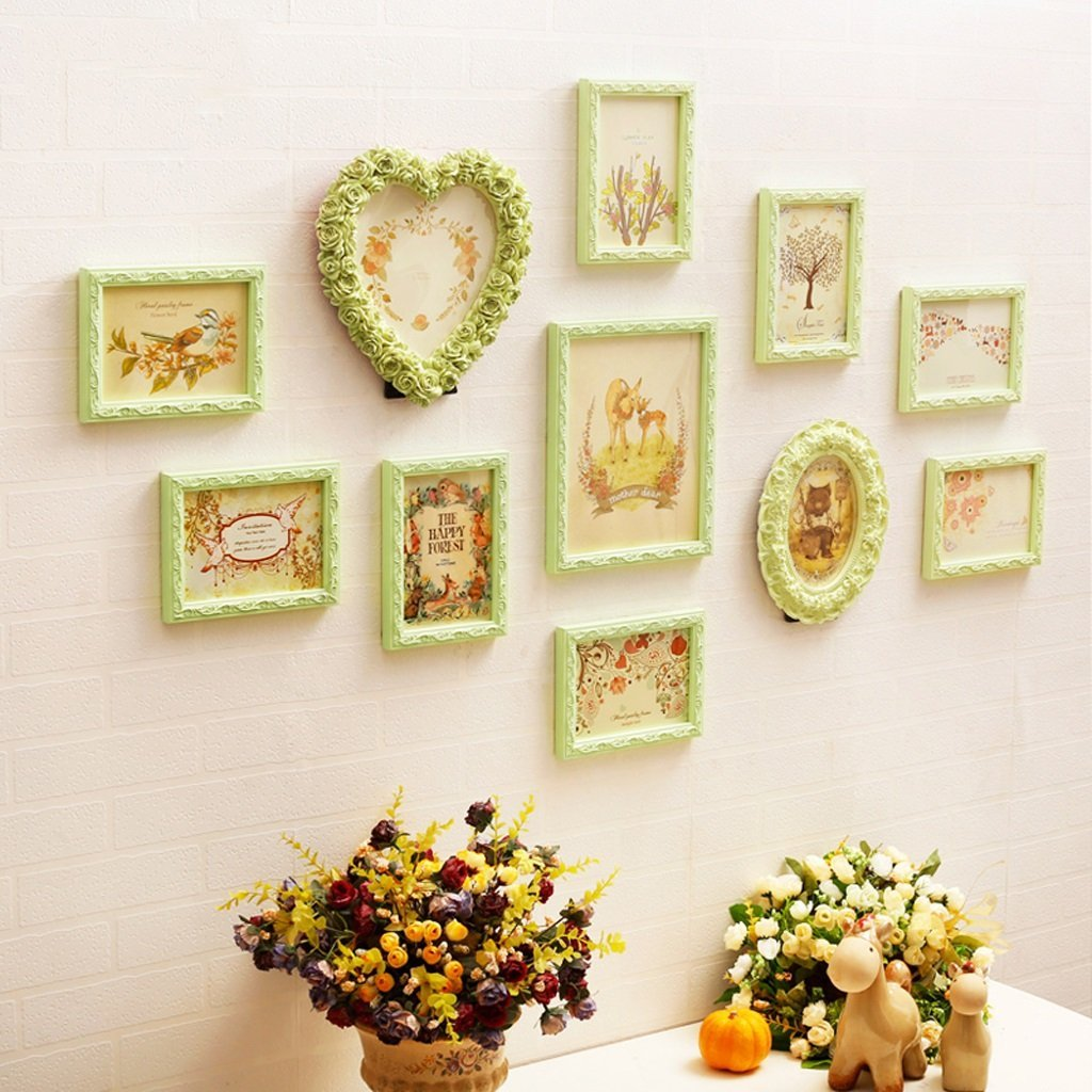 Buy New European-style wooden photo frame wall combination 12pcs ...