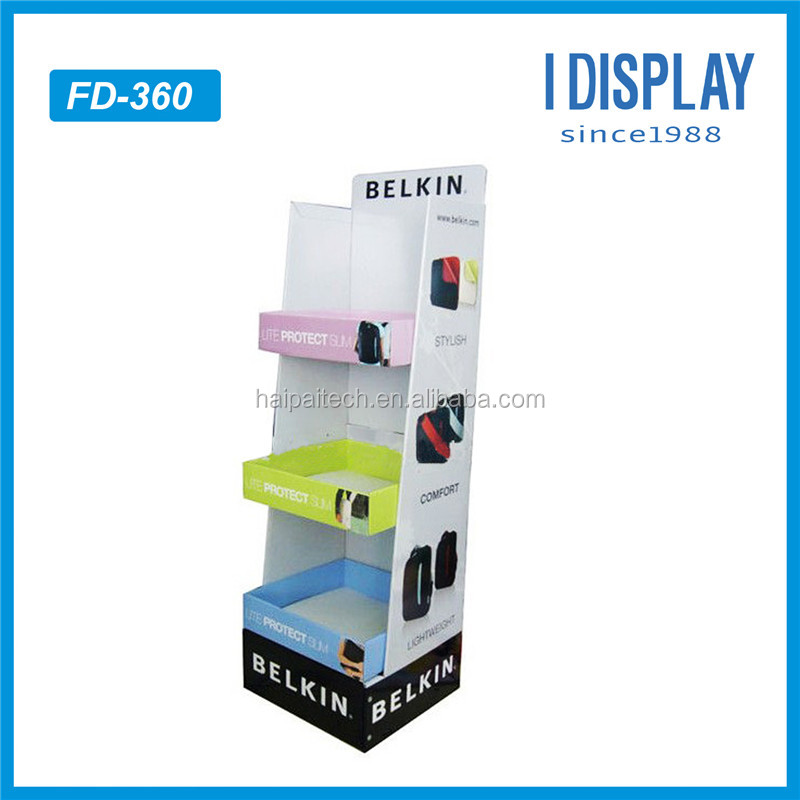 3 tiers Products to sell online cardboard display