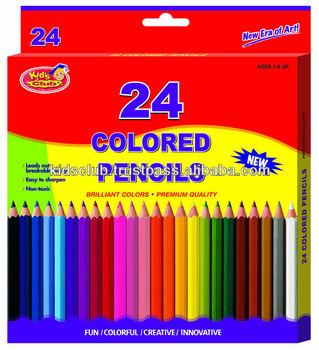 24 color pencil in printed box buy color pencil wooden color