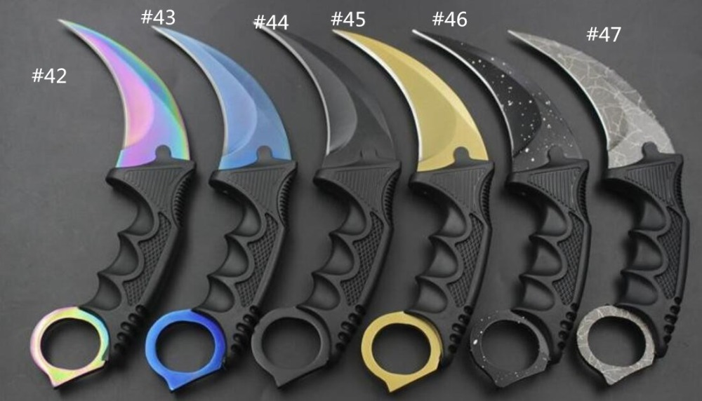 CS go Karambit folding <strong>knife</strong> with training blade tactical survival online shopping pocket tool