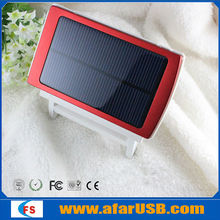 2014 Dual USB Solar Power Bank Charger External Battery for Mobile Camera