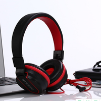 Foldable Adjustable Wired Bass Headsets with microphone