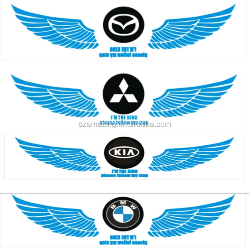 Different Car Brand Logo Wings El Music Active Equalizer Car Sticker
