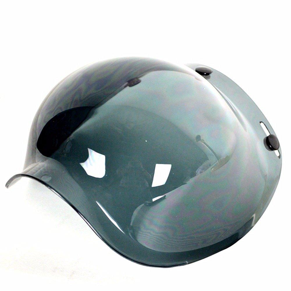 82a97710 PGR B70v Bubble Visor 3 snap Shield Bobber retro 3/4 open face fits biltwell