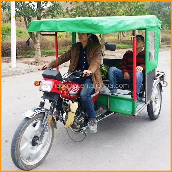 Africa YANSUMI Battery Tuk Tuk, Tricycle Passengers With Cabin, 2 Front Wheel Tricycle