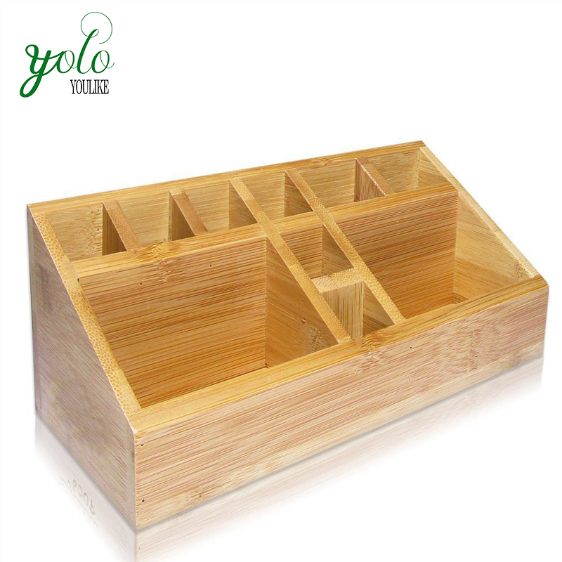 Bamboo Multifunctional Desk Caddy Countertop Storage