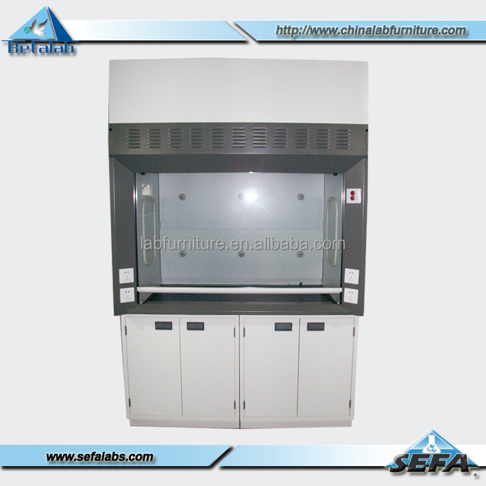 Commercial Ventilation System Exhaust Fume Hood With Vertical Laminar Flow Cabinet