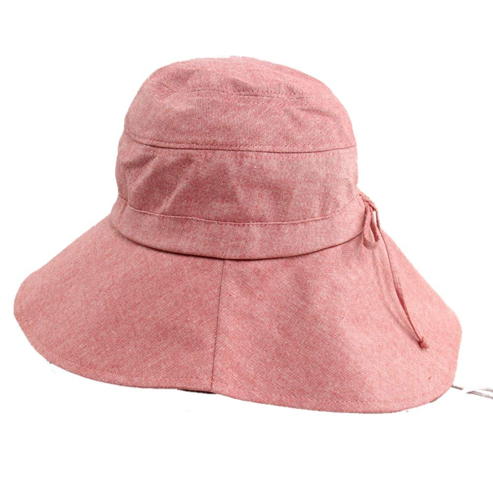 Get Quotations · JF-Sunshine Womens Cotton Wide Brim Summer Outdoor Cycling  Travelling Hat Sun Hat Fishing Hat ac109194be0c