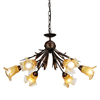 new shabby deluxe glass hanging lamp chandelier parts